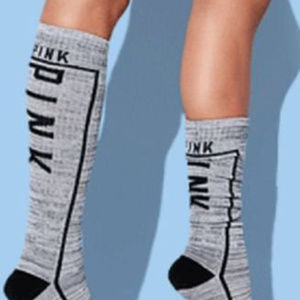eca2bf13d9 PINK Victoria s Secret Accessories - Victoria Secret PINK Knee High Socks  Greymarl NEW